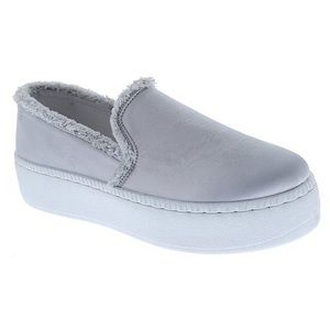 Weeboo Selina silver slip-on sneakers size 6.5 NEW